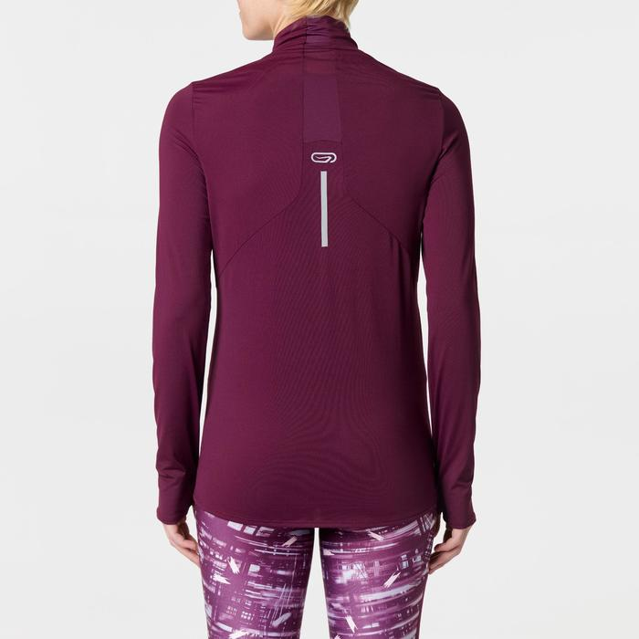 RUN DRY+ ZIP WOMEN'S LONG-SLEEVED RUNNING JERSEY BURGUNDY
