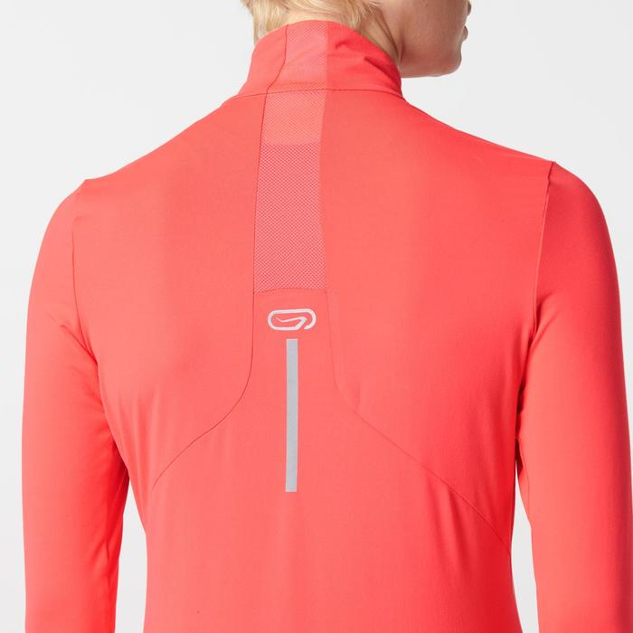 Run Dry + Zip Women's Running Long-Sleeved Shirt - Pink - 1491135