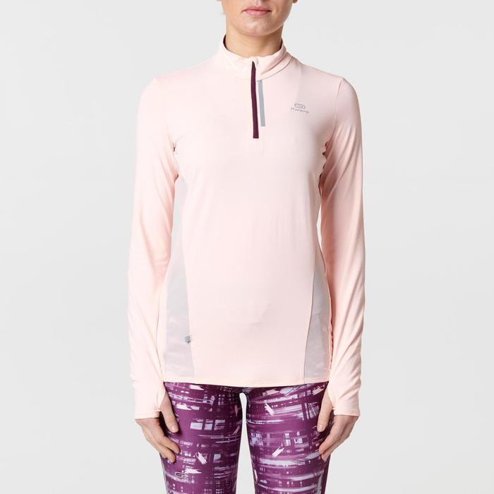 MAILLOT MANCHES LONGUES JOGGING FEMME RUN DRY+ ZIP - 1491153
