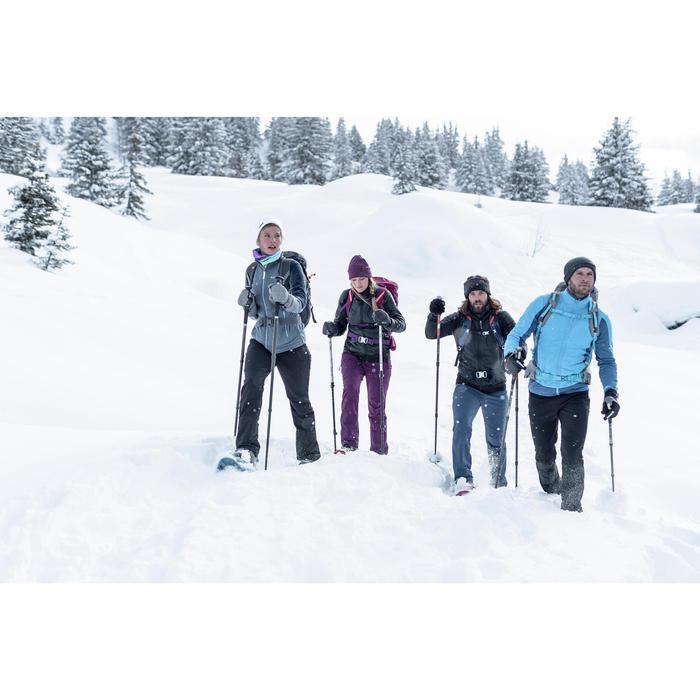 Wandelsokken volwassenen voor sneeuwwandelen SH520 X-Warm hoog zwart rood.