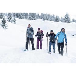Women's snow hiking trousers SH500 x-warm stretch - Black