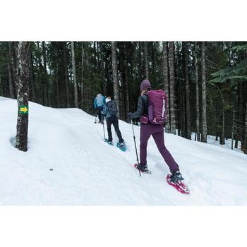 Softshellhose Winterwandern SH500 X-Warm Stretch Damen violett