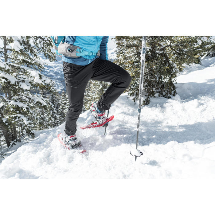 MEN'S WARM WATER REPELLENT SNOW HIKING TROUSERS - SH500 X-WARM - STRETCH