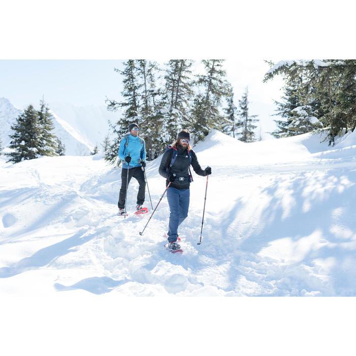 男款超保暖雪地健行彈性長褲SH500-黑色。