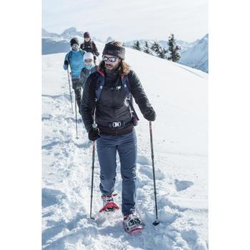 Chaussures de randonnée neige homme SH520 x-warm mid bleues.