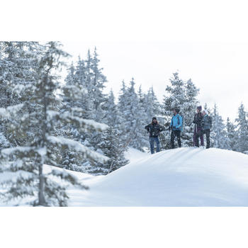 Chaqueta polar híbrida de senderismo nieve hombre SH900 x-warm azul.