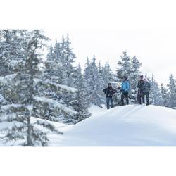 Veste polaire hybride de randonnée neige homme SH900 X-warm bleue.