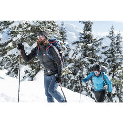 Hybridjacke Winterwandern SH900 Extra-Warm Herren schwarz