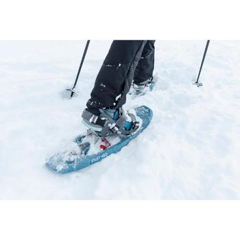 Dames wandelschoenen voor de sneeuw SH520 X-warm mid blauw