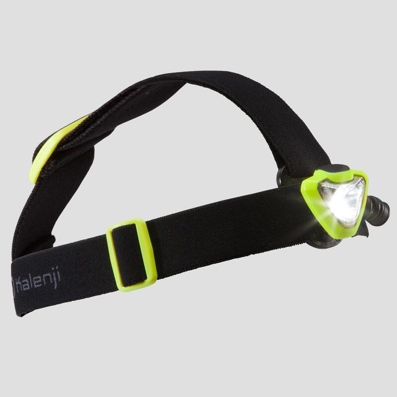 Čelovka na trailový běh ONNIGHT 250 160 lumenů černo-žlutá