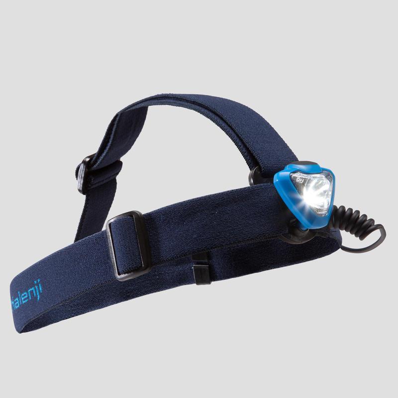 ไฟฉายคาดศีรษะสำหรับการวิ่งเทรลรุ่น OnNight 210 ค่าความสว่าง 100 ลูเมน (สีน้ำเงิน)
