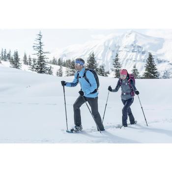 Wandelsokken volwassenen voor sneeuwwandelen SH920 X-Warm mid grijs rood.