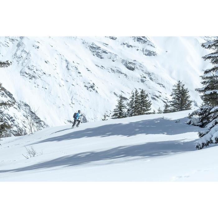 Veste softshell de randonnée neige homme SH900 warm bleue.