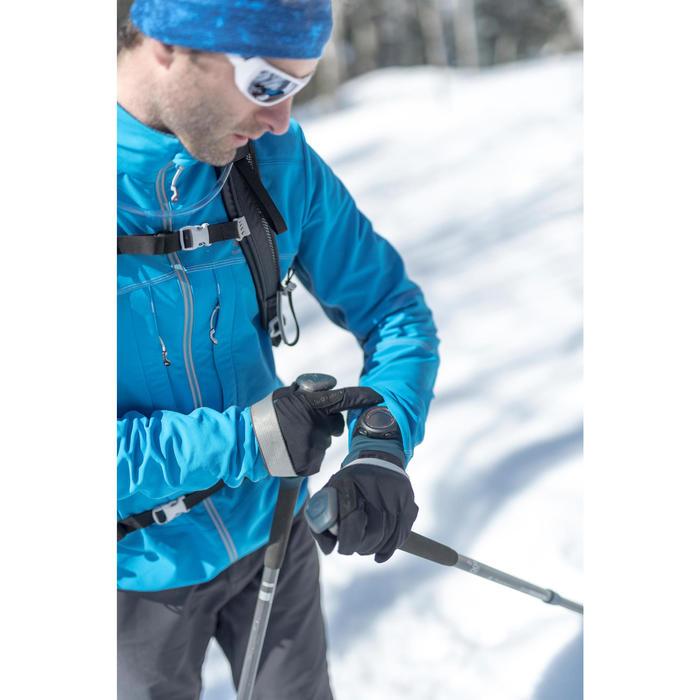 Men's Softshell Snow Hiking Jacket SH900 Warm - Blue.