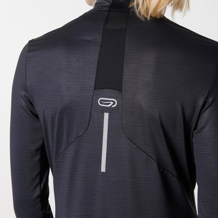 Run Dry + Zip Women's Long-Sleeved Shirt - Black