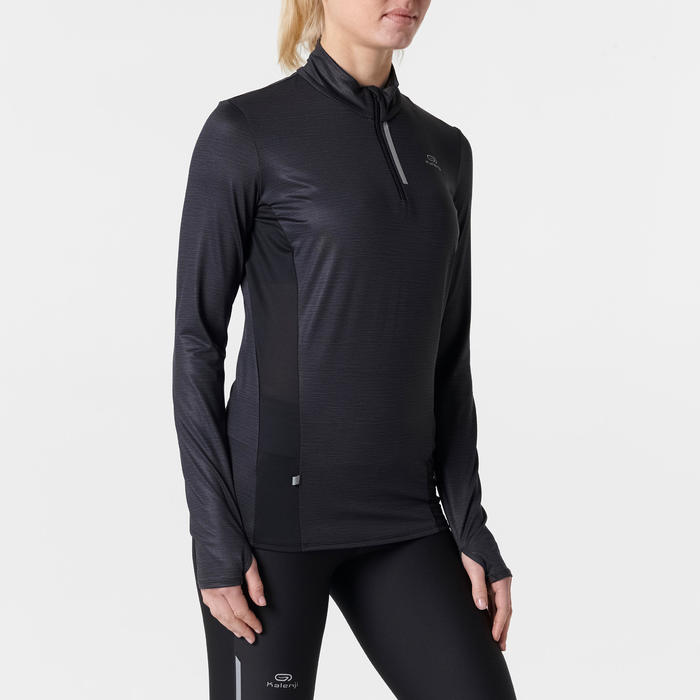 MAILLOT MANCHES LONGUES JOGGING FEMME RUN DRY+ ZIP - 1491348