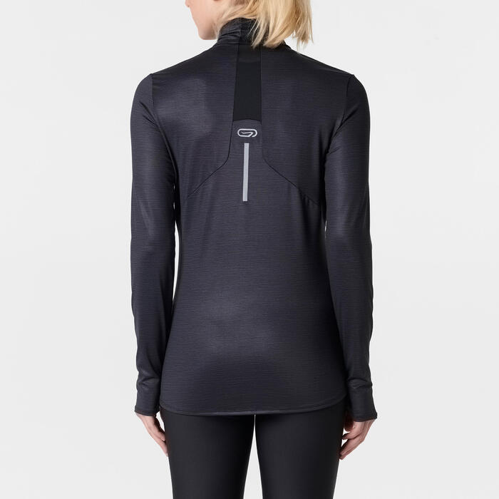 MAILLOT MANCHES LONGUES JOGGING FEMME RUN DRY+ ZIP - 1491350