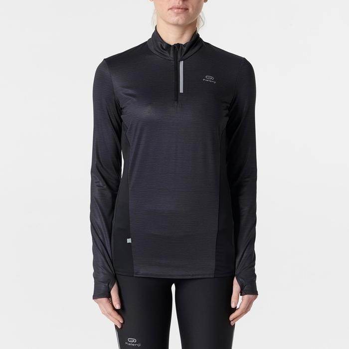 MAILLOT MANCHES LONGUES JOGGING FEMME RUN DRY+ ZIP - 1491354