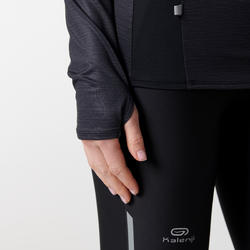 Run Dry+ Zip Women's Long-sleeved Jersey - Black