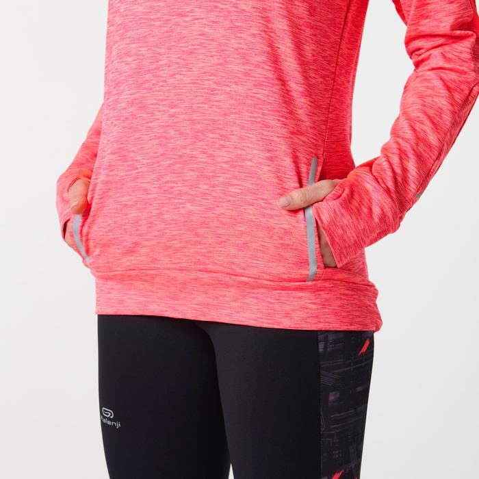女款跑步長袖連帽外套RUN WARM - 珊瑚橘