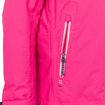100 Kids' Waterproof Sailing Oilskin - Bright Pink