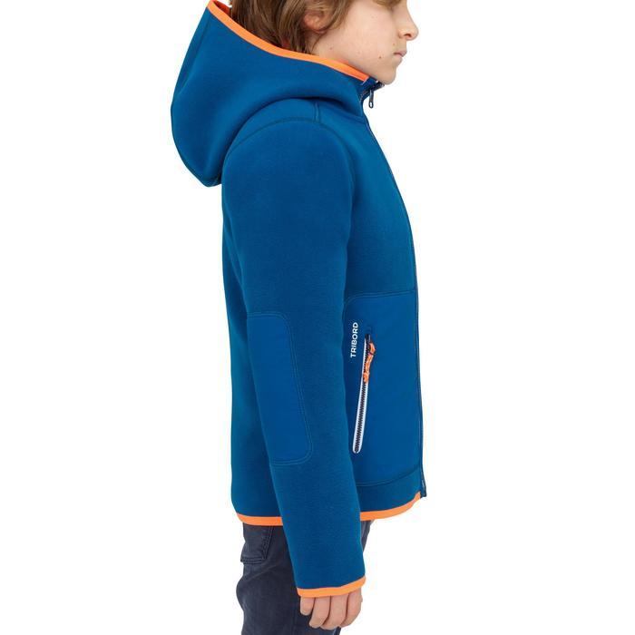 Fleecejacke Segeln 500 wendbar Kinder blau
