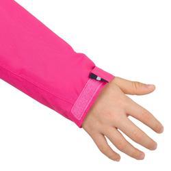 兒童款防水航海雨衣100-亮粉色