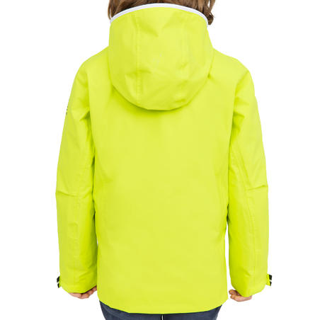 100 Kids' Waterproof Sailing Oilskin - Yellow EU