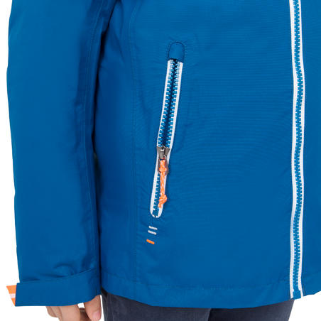 100 Kids' Waterproof Sailing Oilskin - Blue New
