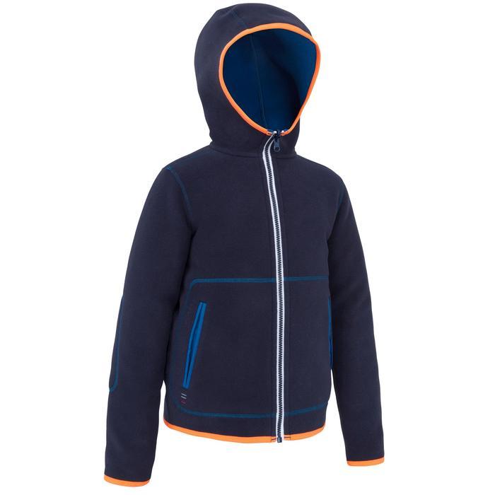 Omkeerbare zeilfleece voor kinderen 500 blauw