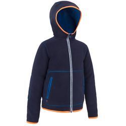 Polaire voile enfant 500 réversible bleu
