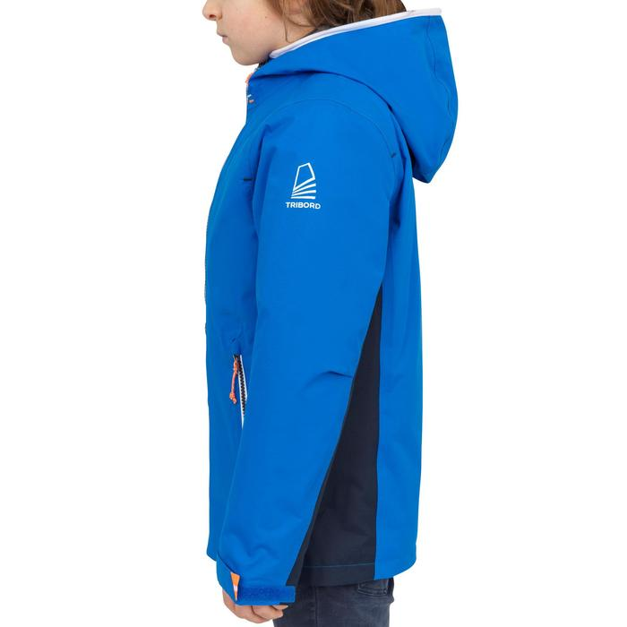 100 Kids' Waterproof Sailing Oilskin - Blue Blue