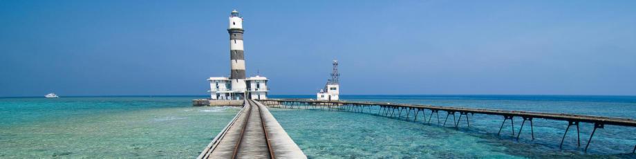 O mítico farol de Daedalus no Mar Vermelho