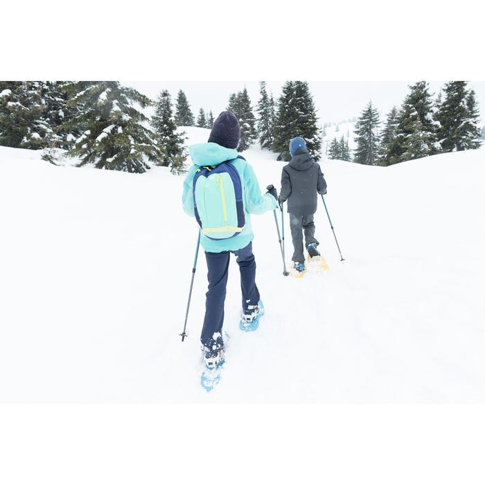 Warme wandelbroek meisjes SH500 X-Warm 7-15 jaar blauw