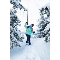 3-in1-Jacke Winterwandern SH500 Extra-Warm Kinder Mädchen grün