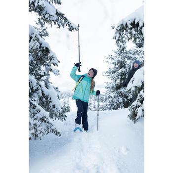 Chaqueta de senderismo nieve júnior SH500 x-warm 3 en 1 verde
