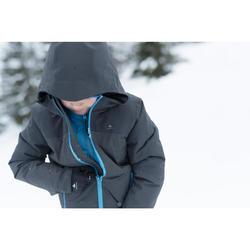 3-in-1-Jacke Winterwandern SH500 X-Warm Kinder Jungen schwarz