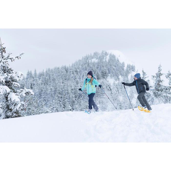 Wandersocken Winterwandern SH520 X-Warm Halbhoch Kinder türkisgrün/grau