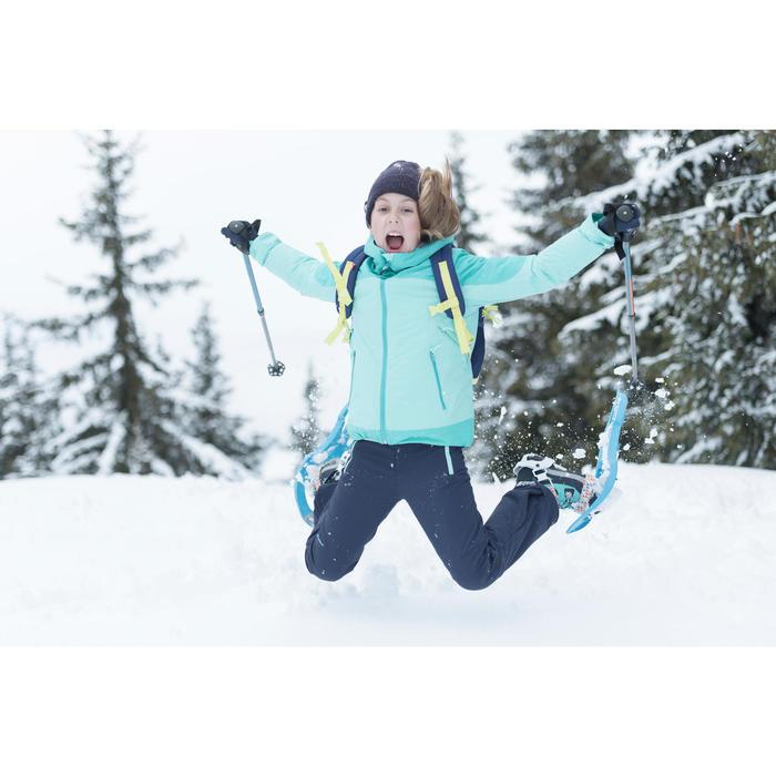 7到15歲女童款3合1超保暖雪地健行外套SH500-綠色
