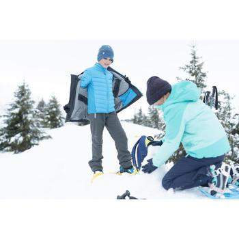 Veste de randonnée neige junior SH500 x-warm 3 en 1 bleue