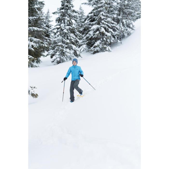 Hybride kinderfleece voor sneeuwwandelen SH500 x-warm blauw
