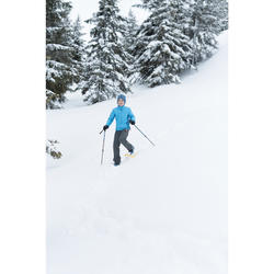 Polaire hybride de randonnée neige SH500 X-WARM garçon 8-14 ans bleue