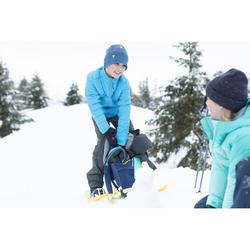 Chaqueta polar híbrida de senderismo nieve SH500 X-WARM niños 8-14 años azul