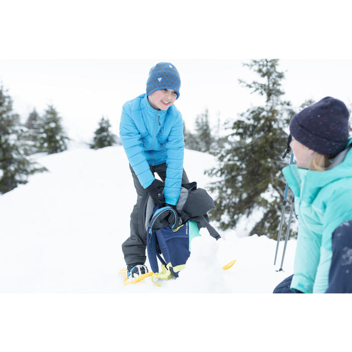 Polaire hybride de randonnée neige junior SH500 x-warm bleue