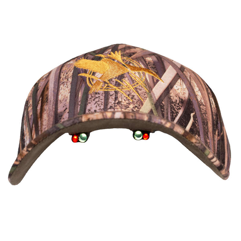 CAMOUFLAGE REEDS CLOTHING Shooting and Hunting - Cap 500 led wetlands camo SOLOGNAC - Hunting and Shooting Clothing