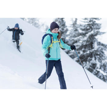 Pantalon chaud de randonnée SH500 X-WARM fille 7-15 ans bleu