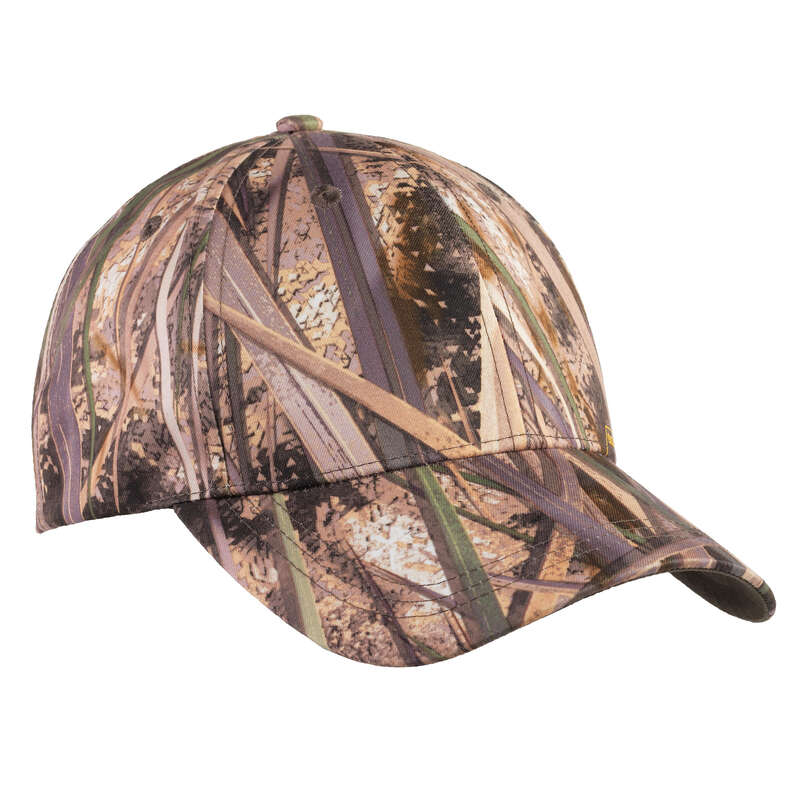 CAMOUFLAGE REEDS CLOTHING Shooting and Hunting - Cap 100 wetlands camo SOLOGNAC - Hunting and Shooting Clothing