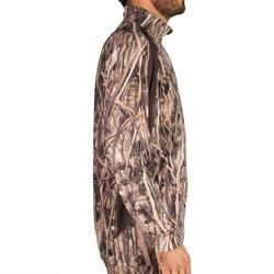 T-shirt voor de jacht met lange mouwen 500 moerascamouflage