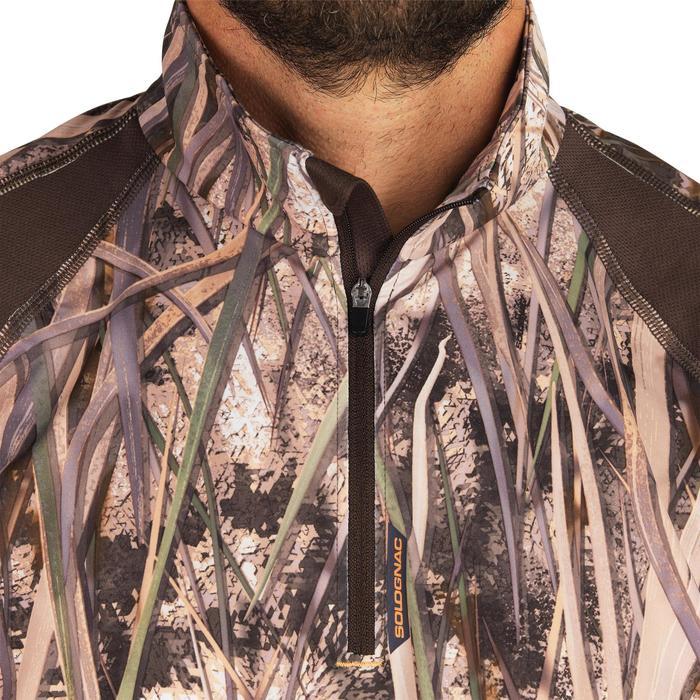 Camiseta Caza Solognac Wf 500 Manga Larga Trasnpirable Camuflaje Marismas