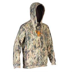 Sweat chasse capuche chaud 500 camouflage marais
